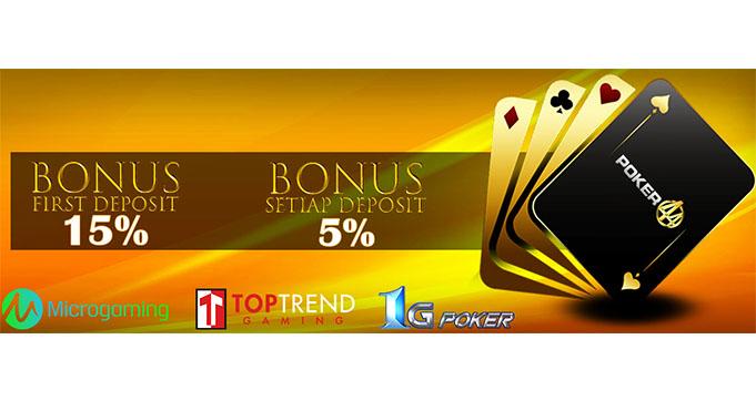 bonus poker online uang asli terbaik
